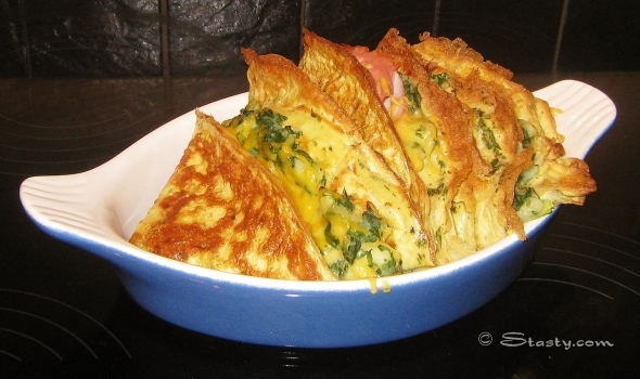 Crispy omelette pancakes stasty to complete this dish fill the pancakes with whatever mix you like fold in half and then in quarter if you want to make these omelettes extra crispy ccuart Choice Image
