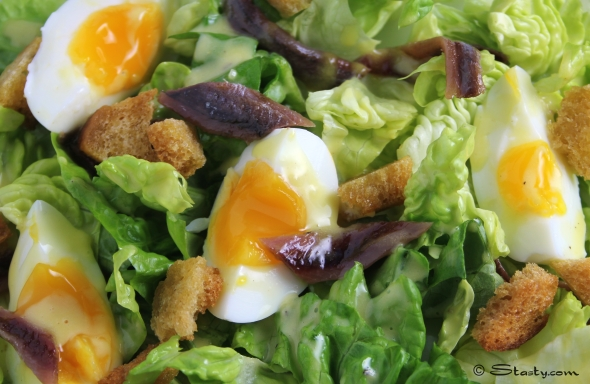 Anchovy and egg salad with aioli – Stasty