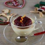Christmas Panna Cotta with Cranberry and Orange Compote