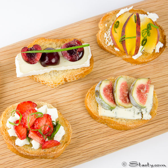 Cheese canapes stasty for Summer canape ideas
