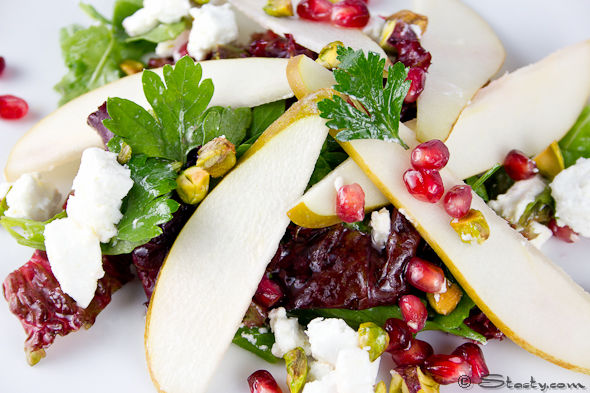 Pear, Pomegranate and Pistachio Salad – Stasty
