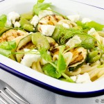 Broad Bean, Courgette and Feta Pasta