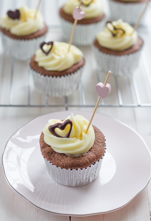 Chocolate Buckwheat Cupcakes             _