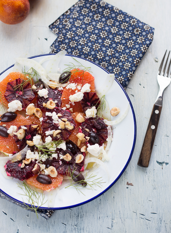 Citrus, Fennel and Hazelnut Salad