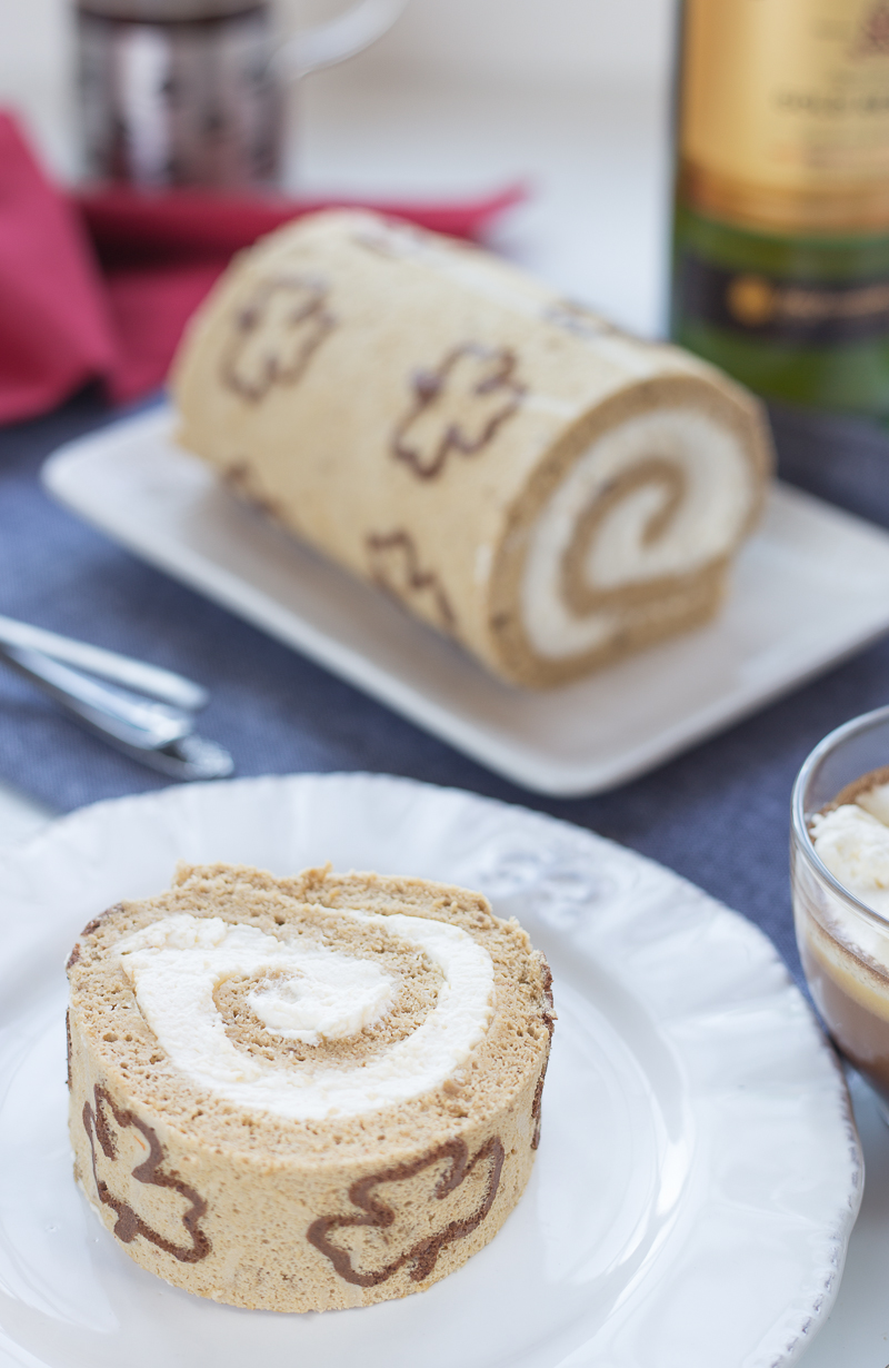 Irish Coffee Swiss Roll