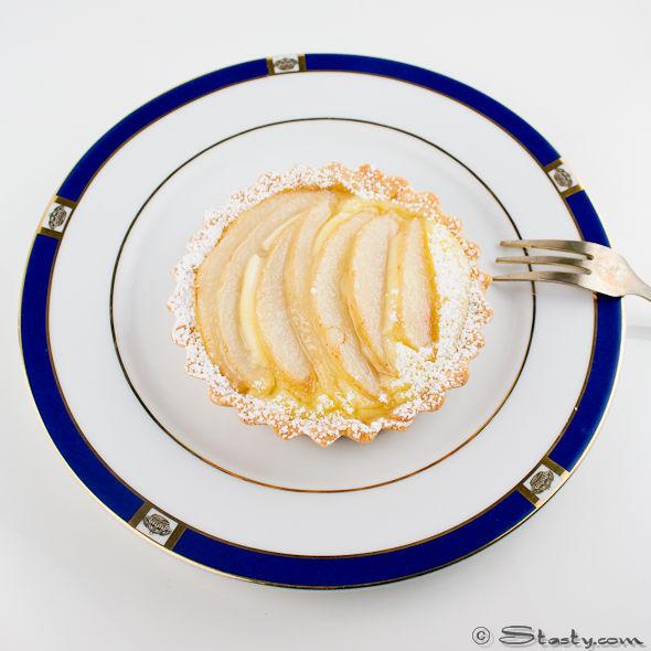 Pear and Custard Tarts